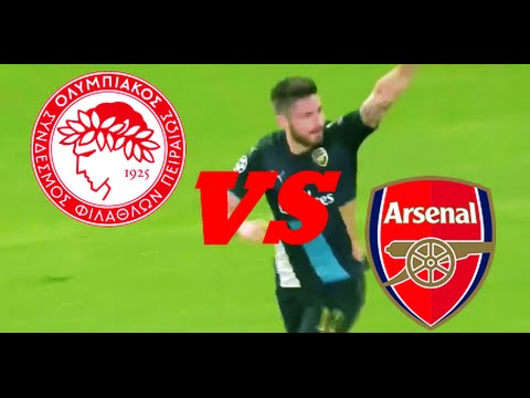 Olympiacos vs Arsenal 0-3 Full Highlights & Goals (Champions League - Group F)
