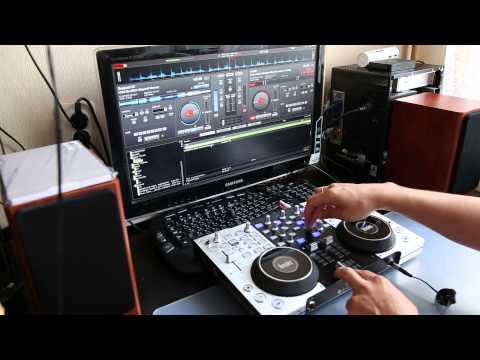 Демонстрация работы DJ-контроллера Hercules DJ Сonsole 4-MX