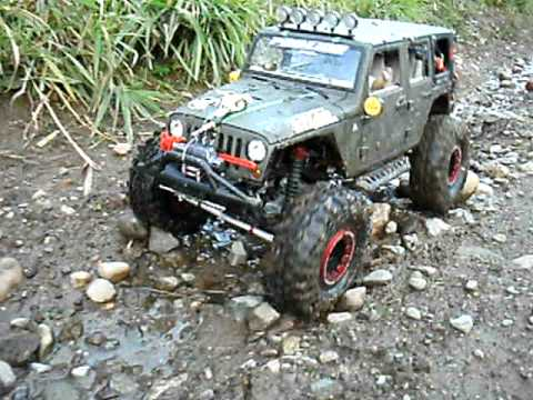 New Bright Jeep Jk Custom Scx10 Built Scale Rc Crawler