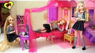 Dormitorio de Elsa y Anna Rutina de la Mañana Edicion Escolar