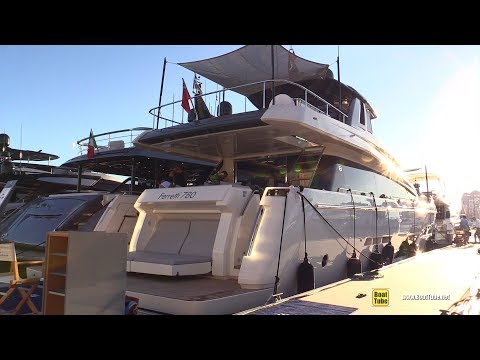 2019 Ferretti 780 Yacht - Deck and Interior Walkaround - 2018 Cannes Yachting Festival
