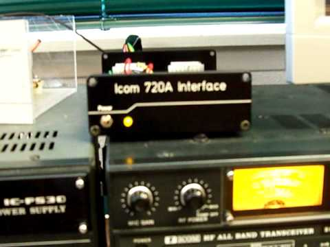 Icom 720A with Ham Radio Deluxe Interface and Rotary Relay Replacement
