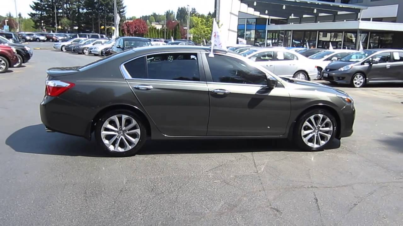 Honda Dealers Seattle >> 2013 Honda Accord, Hematite Metallic - STOCK# 14045K - Walk around - YouTube