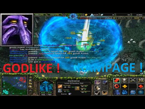 DotA 6 83d  - Faceless Void GODLIKE (RAMPAGEEE) !