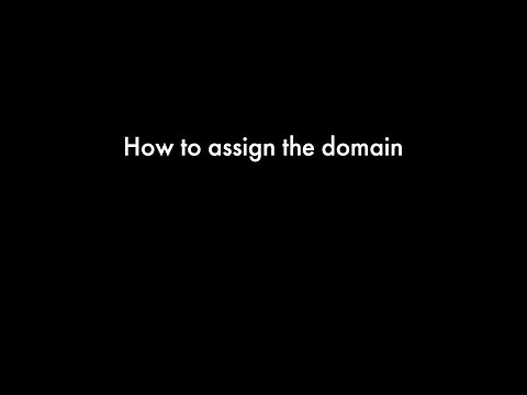 How to assign the domain