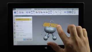 Touch Screen CAD on Tablet in NX 10