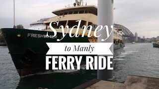 Sydney to Manly ferry trip on the MV Freshwater