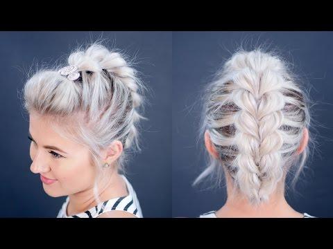 HOW TO: Pull Through Braid Short Hair Tutorial   Milabu