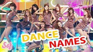 LEARN SNSD Dance Names (Girls' Generation) Video l @Soshified