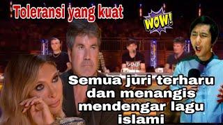 Juri menangis ketika mendengar lagu religi islami Allah Allah Aghisna Ya Rasulullah – Parodi