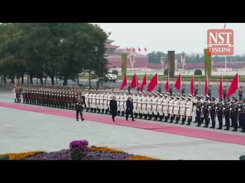PM Najib given official welcome at China's Great Hall of the People