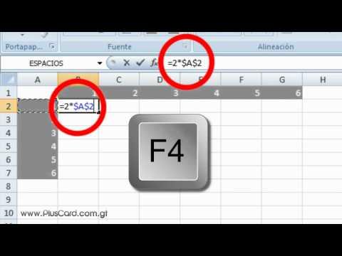 Copiar Formulas con Referencias Relativas y Absolutas en Excel - HD