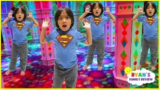 Ryan lost in the huge Mirror Maze with Ryan's Family Review