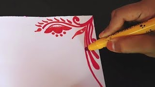 Simple | Border designs on paper | border designs | project work designs | borders for projects