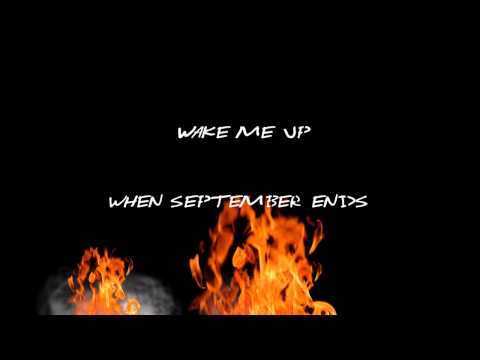 Green Day - Wake Me Up When September Ends Lyrics Video