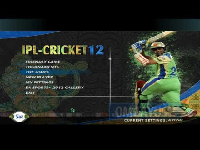 EA Sports Cricket 2012 + IPL-5 Patch For Cricket07 PC Game [Gameplay + HD 1080p] (OMGAyush)