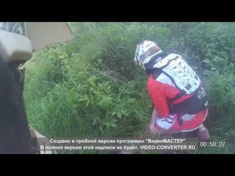 Нетрезвый водитель напал на эндуриста за что и был ткнут мордой в землю)