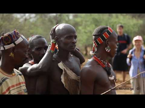 Hamar Tribe. Bull Jumping. Ethiopia . VIDEO by Mindia Midelashvili 2013