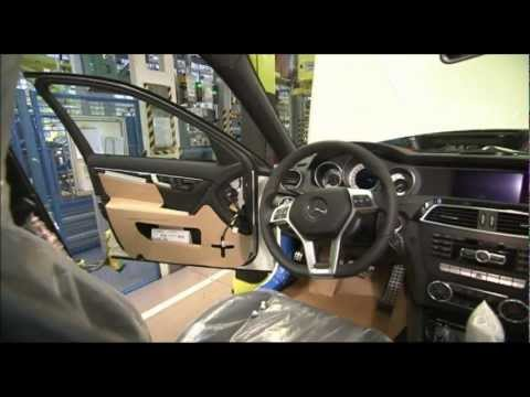 All new Mercedes C-Class 2012 Production Sindelfingen