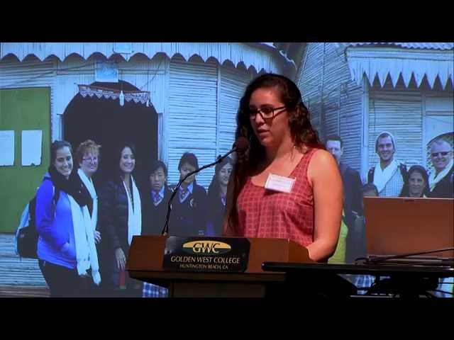 Sami Almaraz - 2014 Golden West College Peace Conference