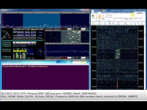 Short OLIVIA transmission by AC4M on the 60m band