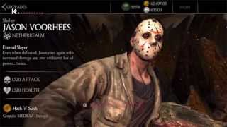 SLASHER JASON VOORHEES MKX IOS ANDROID X-RAY FATALITY SPECIAL 1.5 UPDATE