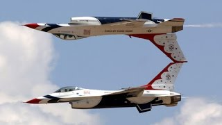 SUPER AWESOME aerobatics air show display by the US Air Force