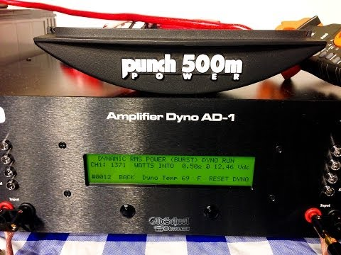 Rockford Fosgate Power 500M DSM vs SMD AD-1 Amp Dyno 0.5 ohm Mono WOW!!