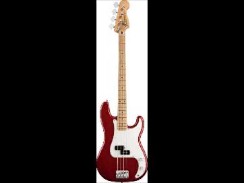 Fender standard precision bass®, Candy Apple Red, Maple Fretboard