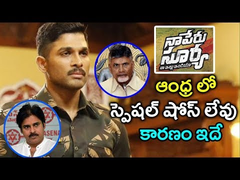 Naa Peru Surya Special Show| Permision Not Given To Naa Peru Surya Special Shows In AP|GARAM CHAI