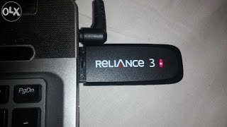 Reliance 3 Dongle Speed Test HSD (High Speed Data Plan) Truly Unlimited
