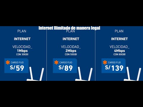 Internet Ilimitado en tu smartphone con Entel. Bitel. Claro y Movistar (Legal)