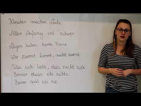 Przydatny Niemiecki - Najważniejsze Przysłowia Część 2