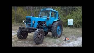 Installing the winch ZIL-131 on a tractor MTZ-82 (лебедка на мтз)