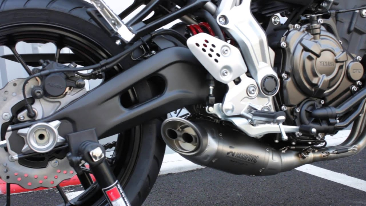 Yamaha Mt 07 Akrapovic Exhaust By Planet Racing Youtube