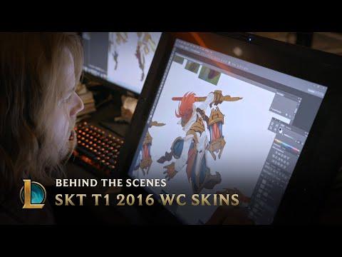 Making the SKT T1 2016 World Championship Team Skins   League of Legends
