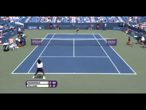 Urszula Radwanska vs Serena Williams Western & Southern US Open Cincinnati 2012