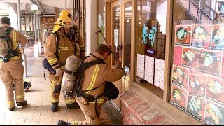 Firefighters break into Sushi Restaurant   Wellington  New Zealand