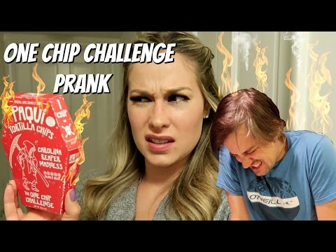 ONE CHIP CHALLENGE PRANK- World's Spiciest Chip