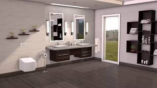 TOTO Neorest AC - EW Wall-hung Toilet & Washlet Top Installation