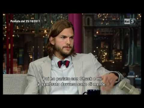 Ashton Kutcher al David Letterman Show