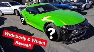 REVEALING 2020 TOYOTA SUPRA WHEELS & WIDEBODY MODS BEGIN!