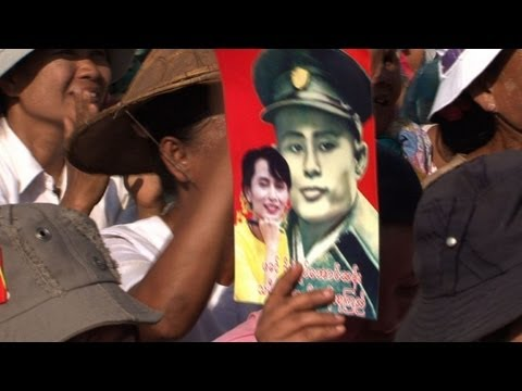 Suu Kyi's father makes comeback on campaign trail