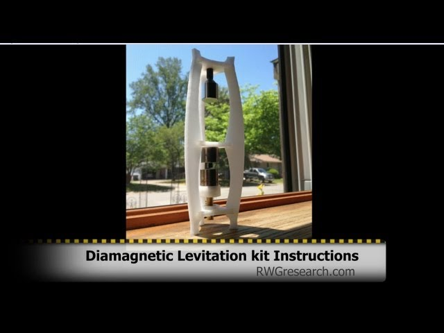 Instructions & DIY for Open Source Diamagnetic Levitation kits. 3D Printable !!! RWGresearch.com