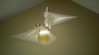 TUTORIAL CONI PORTA RISO - WEDDING: RICE CONES