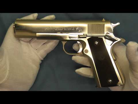 Nickel Colt Government Model .45 ACP 1911 1911A1
