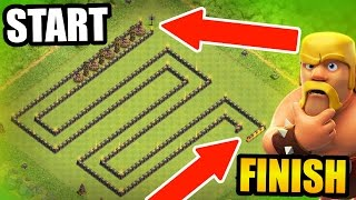 Clash Of Clans - WORLDS LARGEST TROLL BASE! - UNDEFEATED SNAKE TROLL!