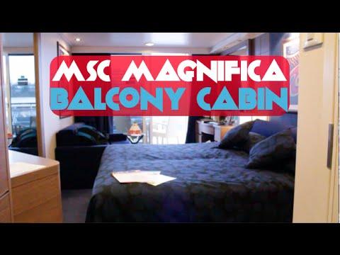MSC Magnifica Balcony Cabin Tour