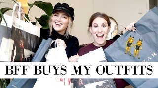 BEST FRIEND BUYS MY OUTFITS FT. JAMIE PAIGE | allanaramaa