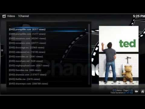 XBMCil - How to install 1Channel and MashUp on XBMC Gotham 13